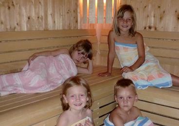 Schwitzen in unserer Sauna